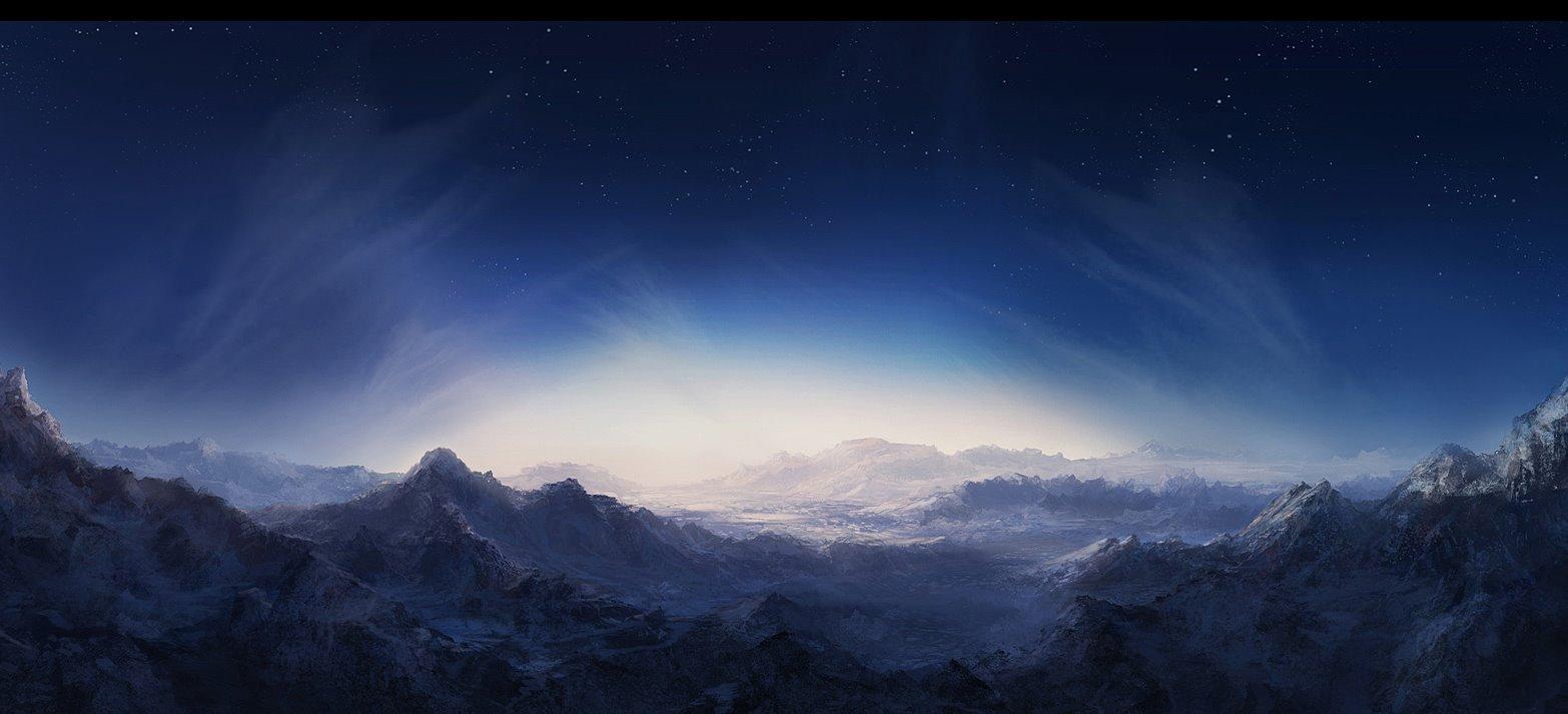горы высота небо звезды скачать